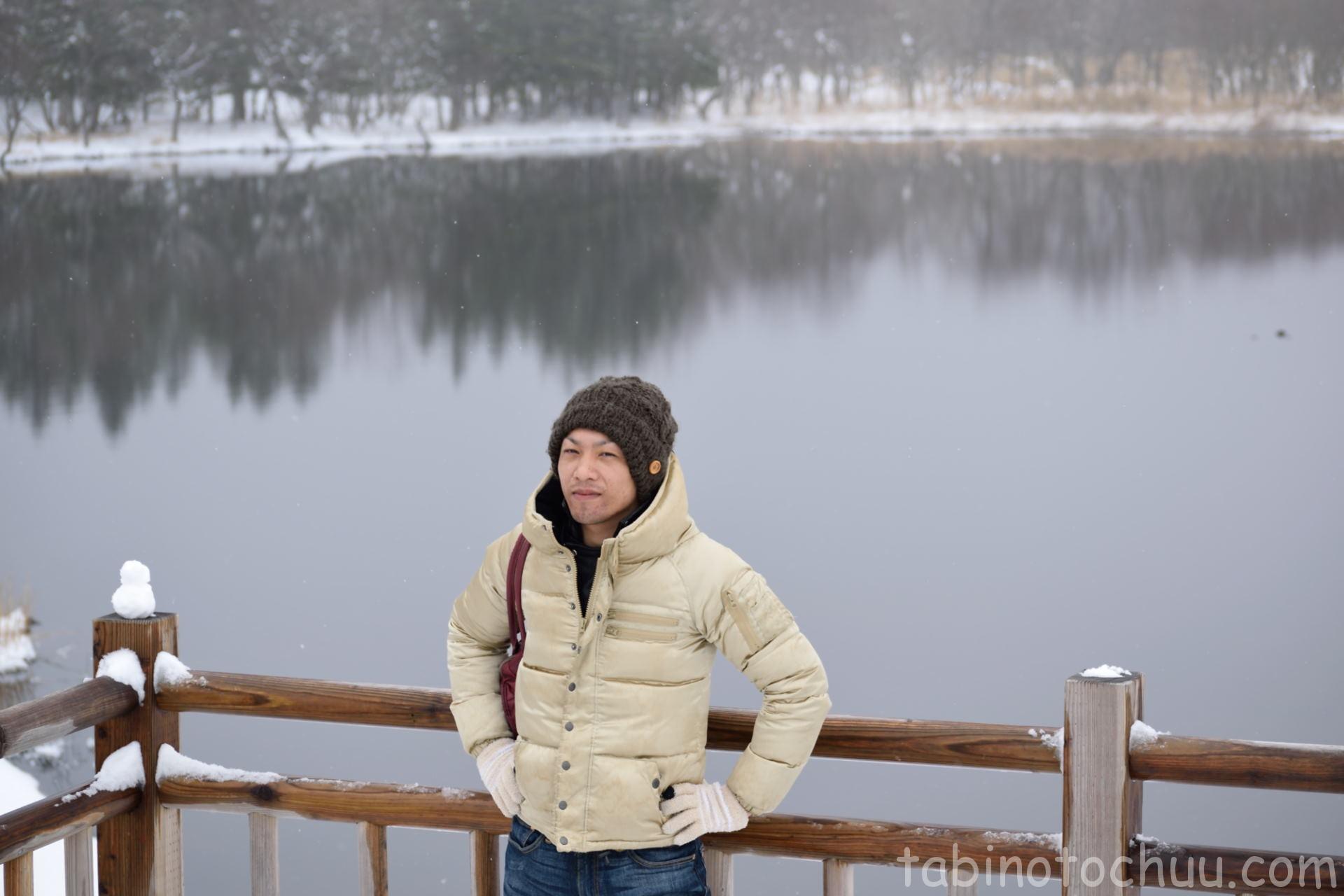 知床五湖、湖前