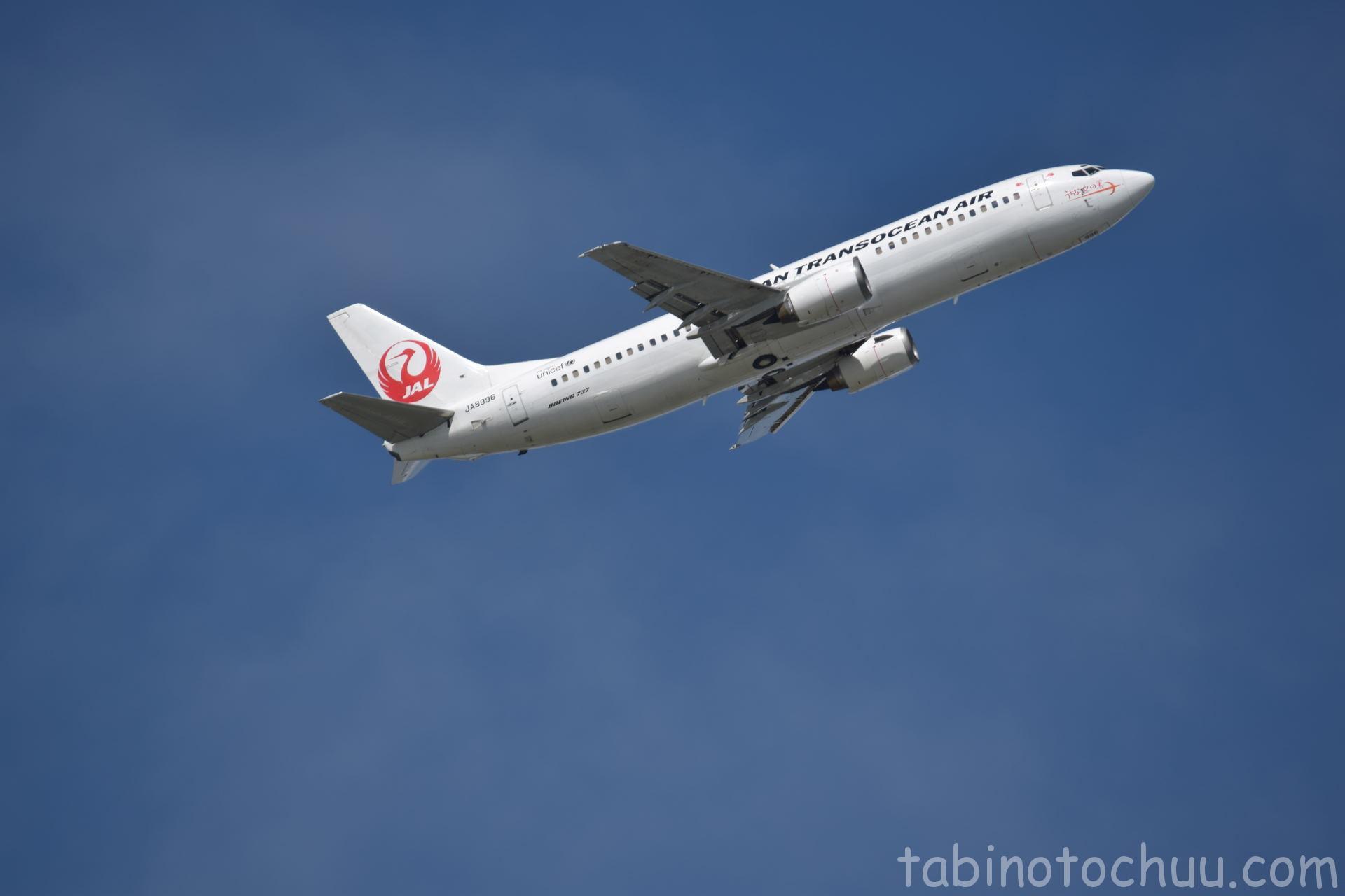 瀬長島から見られる飛行機