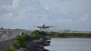 瀬長島 飛行機撮影ポイントより 離陸