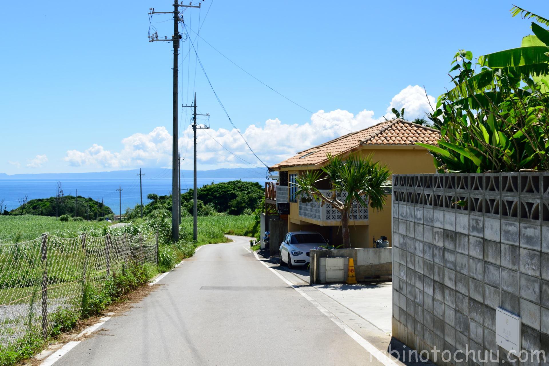 右に曲がると トケイ浜駐車場
