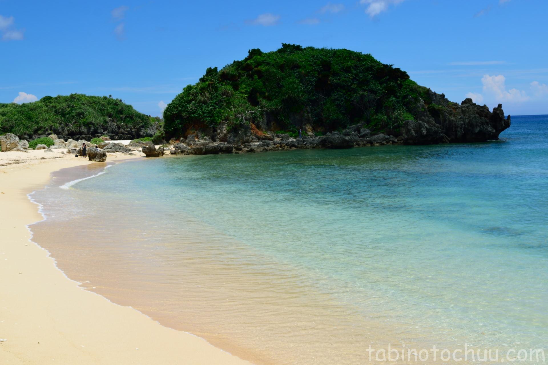 トケイ浜横のビーチ