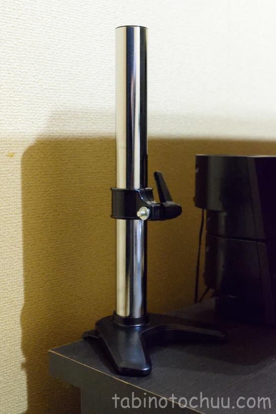 モニターアーム取り付け 支柱(Alloyseed 4軸ガススプリング式)