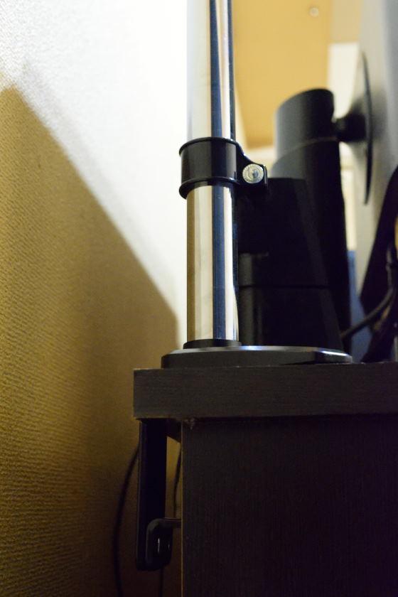 モニターアーム 支柱クランプ(Alloyseed4軸ガススプリング式)