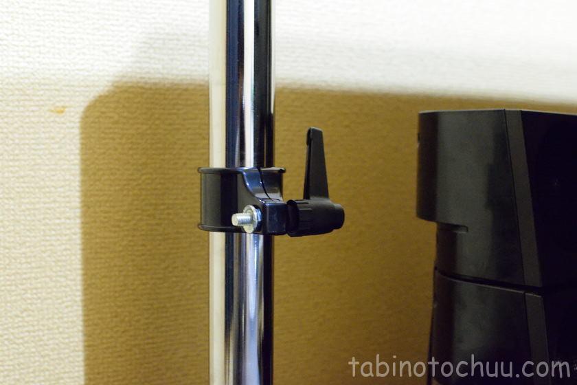 モニターアーム 支柱調整箇所(Alloyseed4軸ガススプリング式)