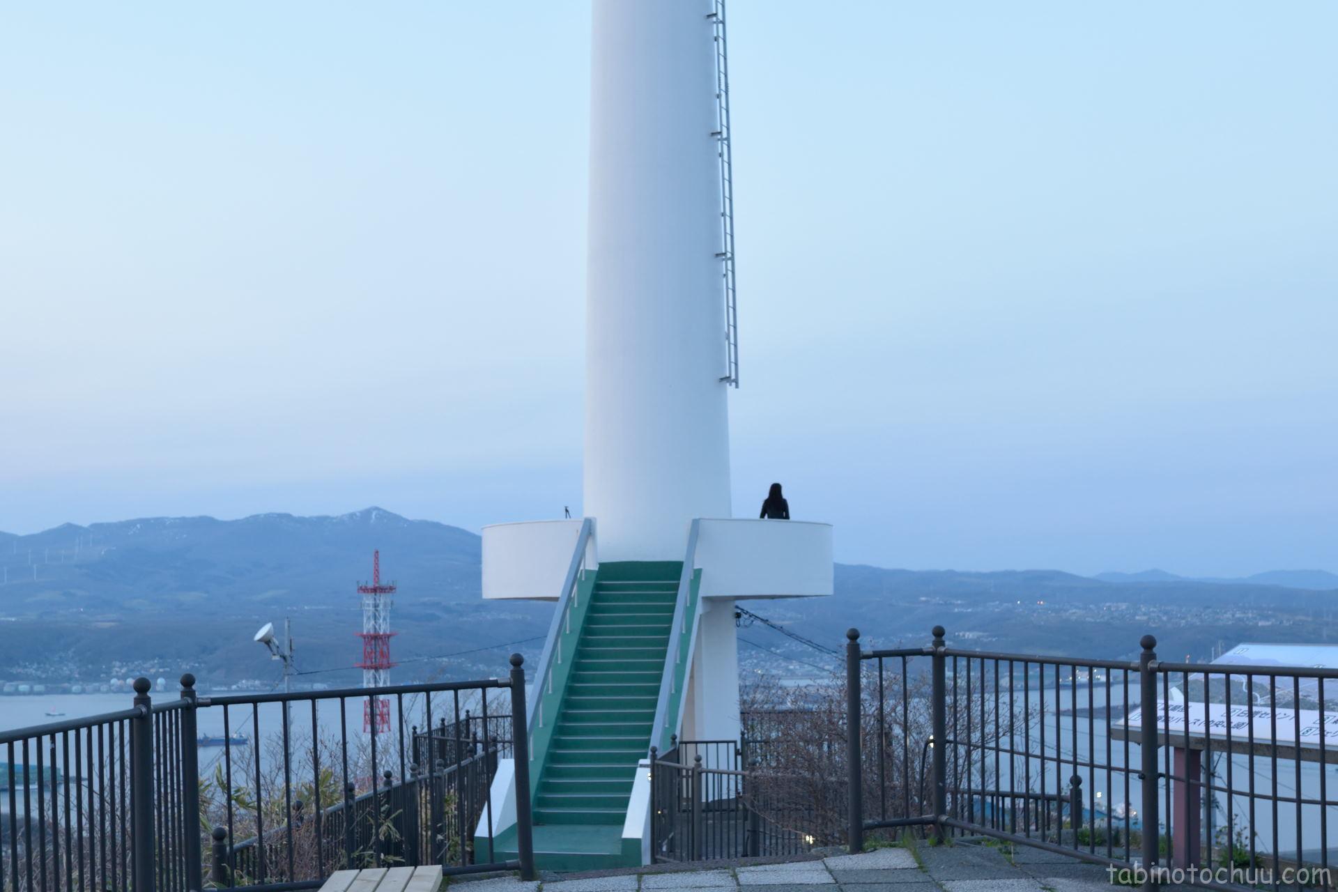 測量山展望台から