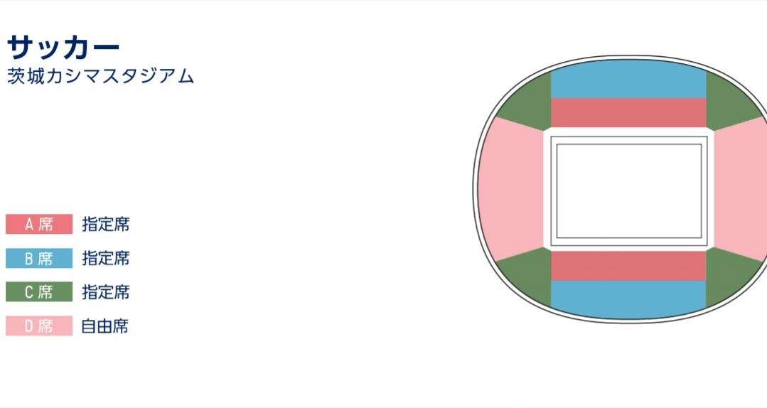 サッカー茨城カシマスタジアム座席