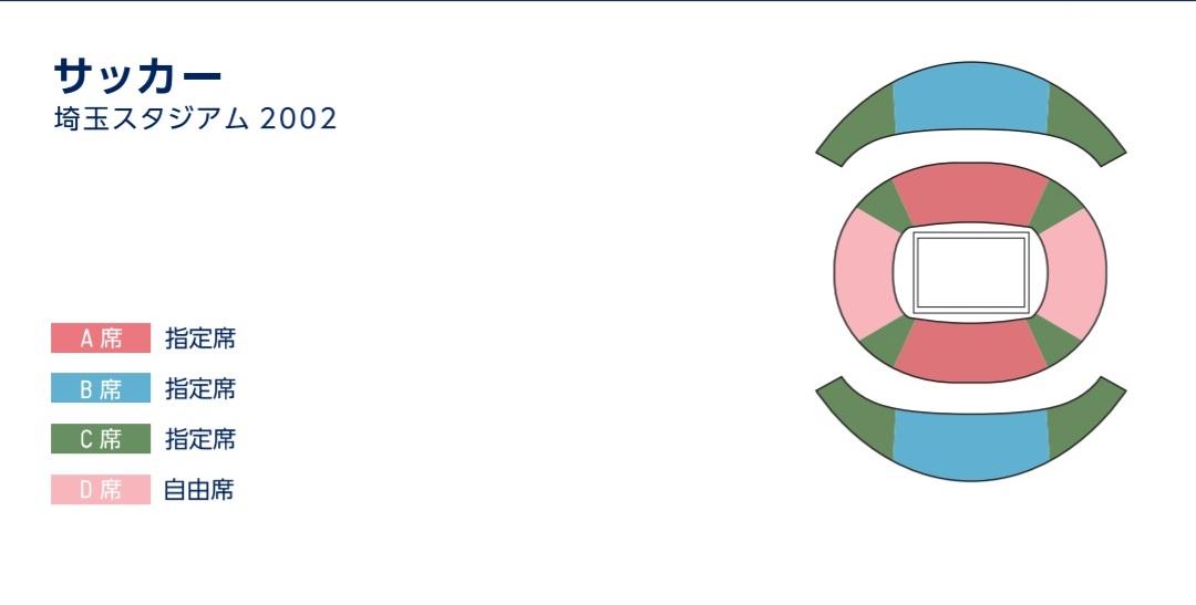 サッカー埼玉スタジアム2002座席